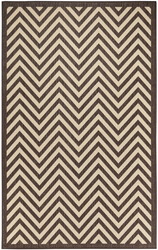 Chevron Design Indoor/Outdoor Dark Brown Area Rug