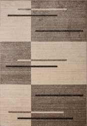 Piano String Brown Beige Area Rug 8 ft. by 10 ft.