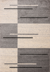Piano String Gray Beige Area Rug 5 ft. by 7 ft.