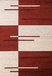 Piano String Red Beige Area Rug 8 ft. by 10 ft.
