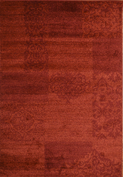 Jena Wave Red Beige Area Rug 5 ft. by 7 ft.
