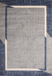 Fine Sleek Blue Beige Area Rug 3 ft. by 5 ft.