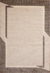 Fine Sleek Brown Beige Area Rug 8 ft. by 10 ft.