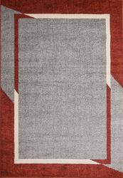 Fine Sleek Red Beige Area Rug 5 ft. by 7 ft.