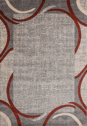 Ocean Crest Red Beige Area Rug 5 ft. by 7 ft.