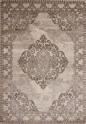 Hena Glory Brown Beige Area Rug 5 ft. by 7 ft.