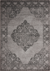 Hena Glory Gray Beige Area Rug 3 ft. by 5 ft.