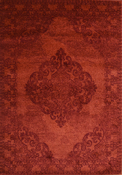 Hena Glory Red Beige Area Rug 5 ft. by 7 ft.