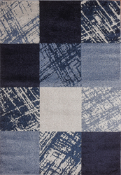 Caramel Drizzle Blue Beige Area Rug 5 ft. by 7 ft.