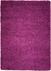 Solid Shag Collection Modern Plush Violet Shag Area Rug 3 ft. by 5 ft.