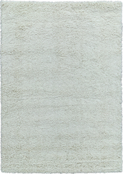 Solid Shag Collection Modern Plush Cream Shag Area Rug 5 ft. by 7 ft.