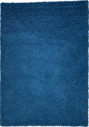 Solid Shag Collection Modern Plush Navy Shag Area Rug 5 ft. by 7 ft.