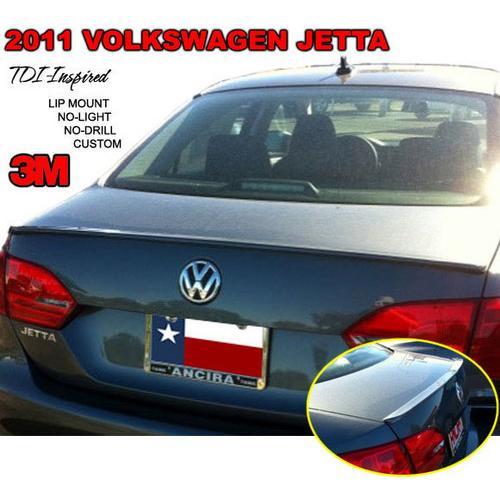 Painted 2011-2014 Volkswagen Jetta Lip Spoiler TDI Custom Style