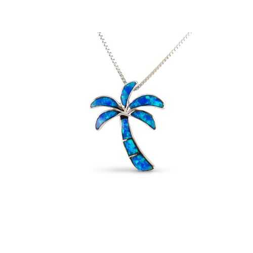 Palm Tree Opal Pendant