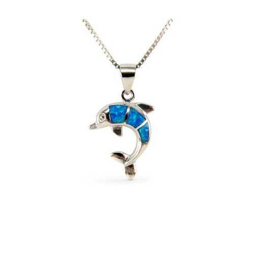Dolphin Opal Pendant #1 17mm