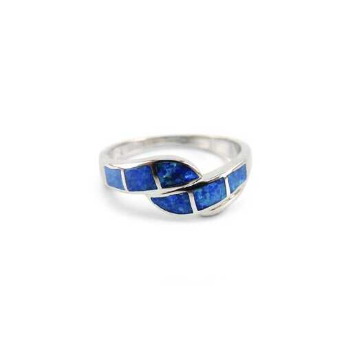 Twist Opal Inlay Ring