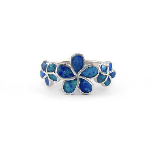 3 Plumeria Opal Ring