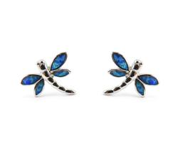 Dragonfly Opal Stud Earrings