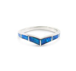 Opal Chevron Ring