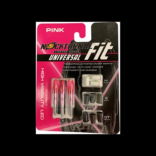 Nockturnal FIT Universal Nock System Pink 3 pk.