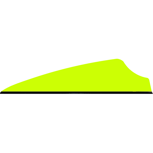 Q2i Fusion X-II SL Vanes Neon Yellow 1.75 in.