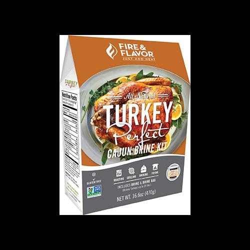 Fire and Flavor Turkey Perfect Kit Cajun