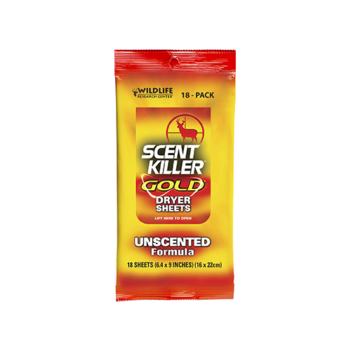 Wildlife Research Scent Killer Dryer Sheets Unscented 18 pk
