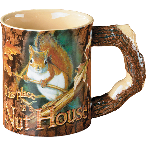 Wild Wings Sculpted Mug Nut House Swuirrel