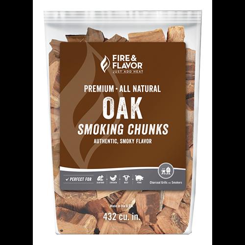 Fire and Flavor Wood Chunks Oak 4 lbs.