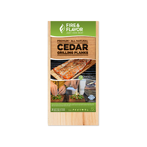Fire and Flavor Cedar Grilling Plank 11 in.
