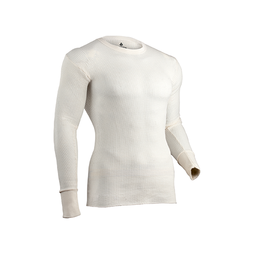 Indera Tradition Long Johns Long Sleeve Shirt Natural Large