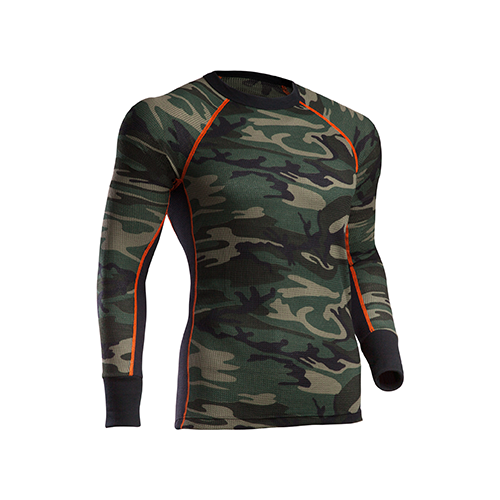 Indera Performance Camouglage Thermal Shirt L/S Camo Large