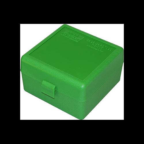 MTM Case-Gard 100 Series Ammo Box Small Rifle Green 100rd