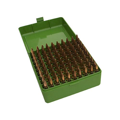 MTM Case-Gard 100 Series Ammo Box Medium Rifle Green 100rd