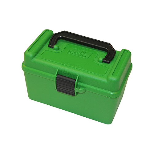 MTM Deluxe Handle Rifle Ammo Case Small Rifle Green 50rd
