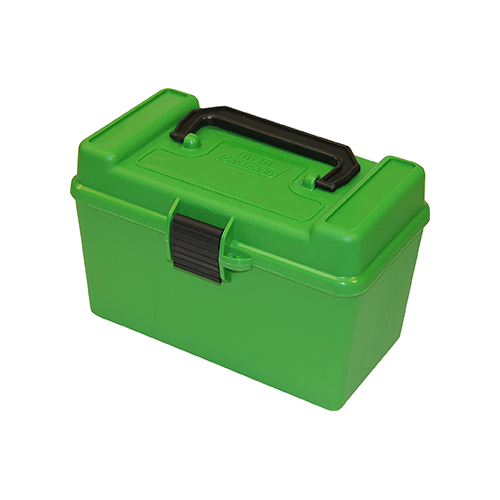 MTM Deluxe Handle Rifle Ammo Case Large Rifle Green 50rd