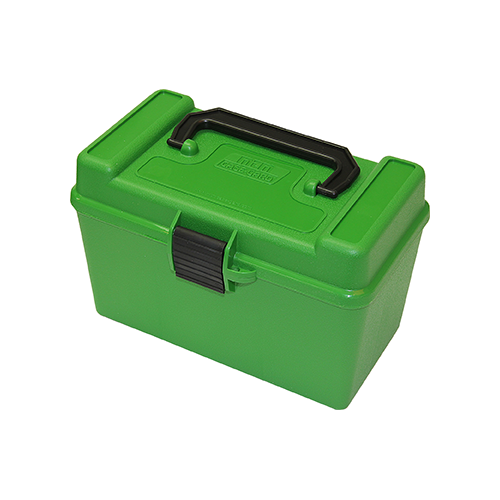 MTM Deluxe Handle Rifle Ammo Case XL Green 50rd