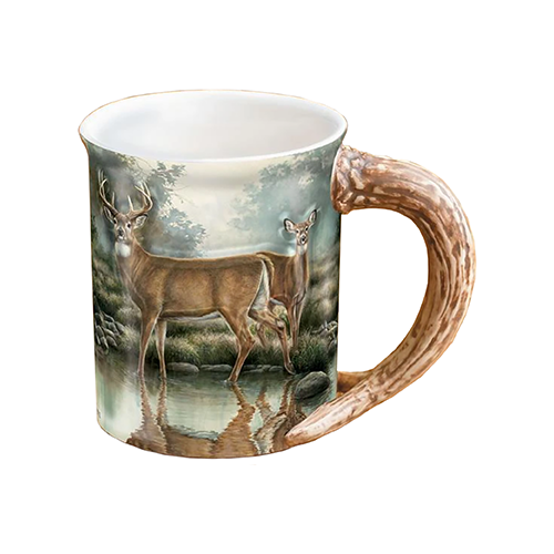 Wild Wings Sculpted Mug Tranquil Waters Whitetail Deer