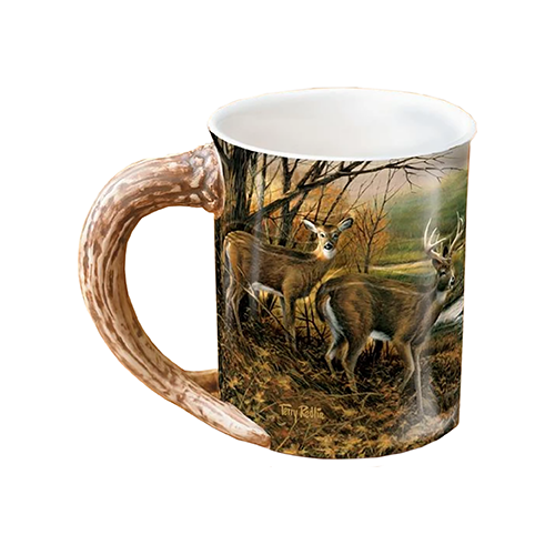 Wild Wings Sculpted Mug Indian Summer Whitetail Deer