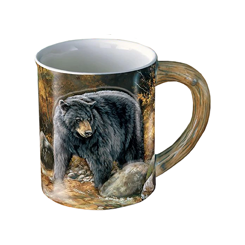Wild Wings Sculpted Mug Autumn Streamside Bear