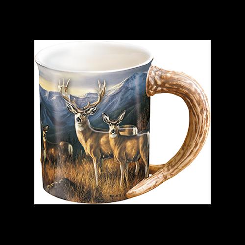 Wild Wings Sculpted Mug Last Glance Mule Deer