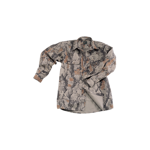 Bush Shirt Natural Camo Large