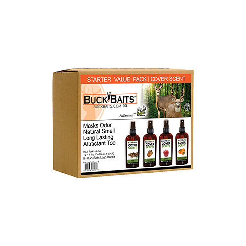 Buck Bait Cover Scent Start Kit Pine/Acorn/Apple/Persimmon 3 ea