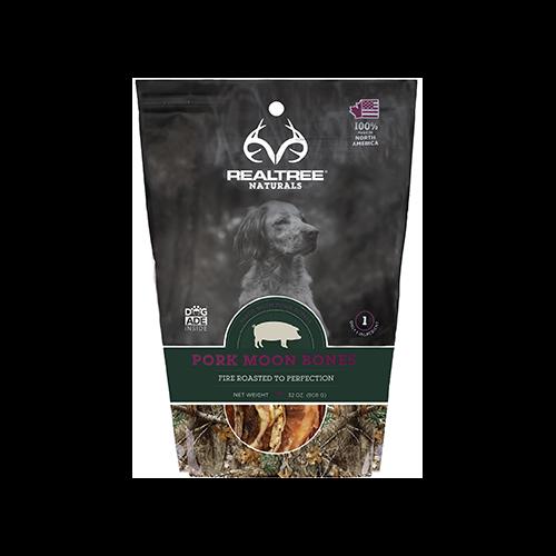 Realtree Naturals Premium Dog Treats Pork Moon Bones