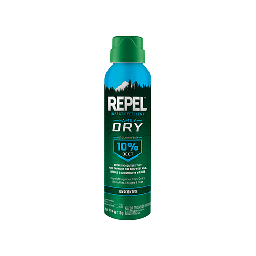 Repel Insect Repellent Family Dry Formula 10% DEET 4 oz.