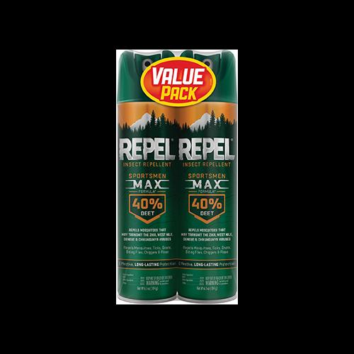 Repel Insect Repellent Sportmen Max Formula 40% DEET 2pk. 6.5oz