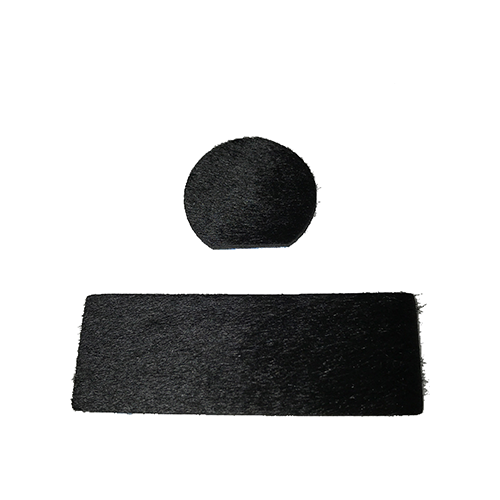 Cir-Cut Traditional Rest Kit Black Calf Hair 2 pc.