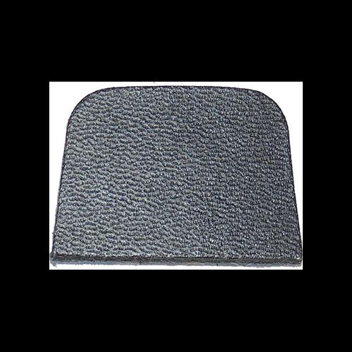 Cir-Cut Strike Plate Black Leather