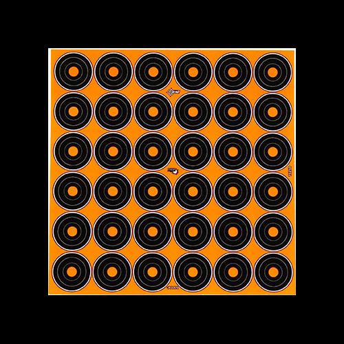 EzAim Splash 1in Bullseye Adhesive Targets 6x6in 12pk