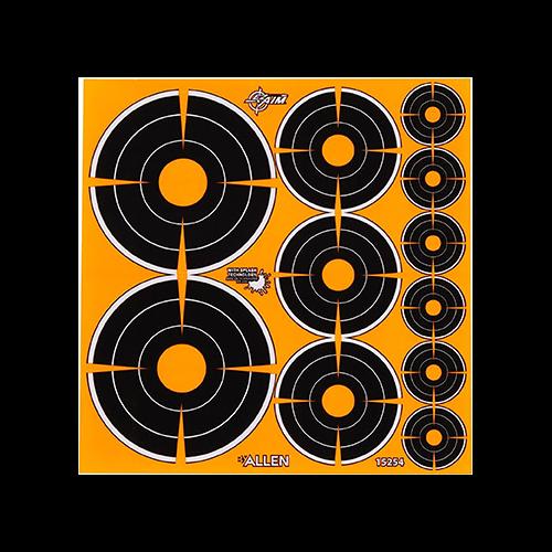 EzAim Splash Bullseye Adhesive Targets Variety Pack 12pk